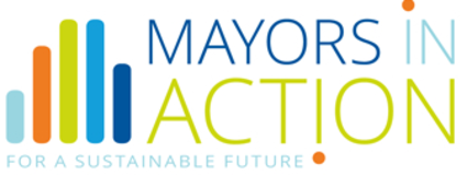 An illustration of the Mayors in Action logo