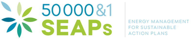 An illustration of the 50,000 and 1 SEAPs logo