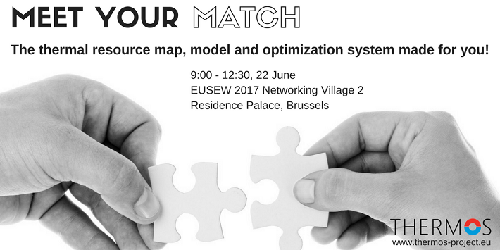 "Picture of the ""Meet your match"" event at the EU Sustainable Energy Week on the 22nd of June, 2017"