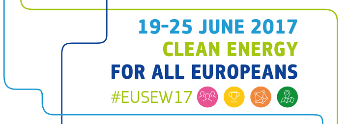 Picture of flyer for the EU Sustainable Energy Week from 19-25th of June, 2017